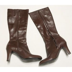 Gianni Bini Leather Boots Size 9M